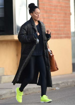Tracee Ellis Ross - Leaves the gym in Los Angeles