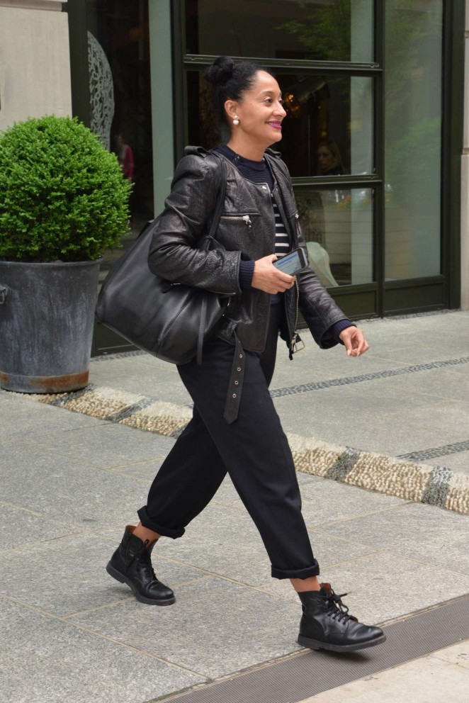 Tracee Ellis Ross - Leaving her hotel in New York