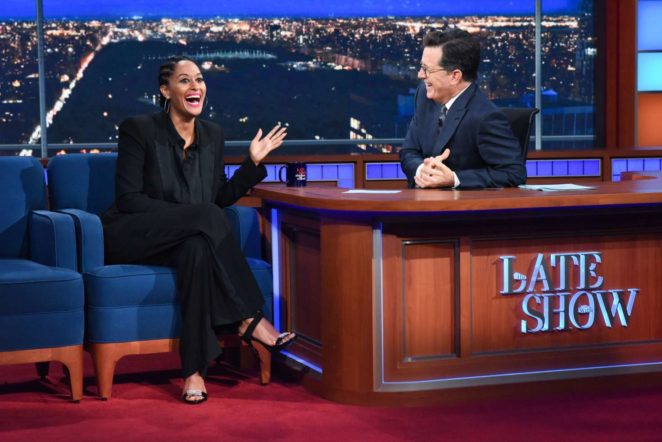 Tracee Ellis Ross on 'The Late Show with Stephen Colbert' in New York