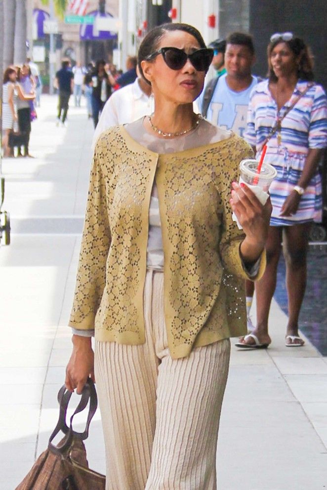 Tracee Ellis Ross out in Beverly Hills