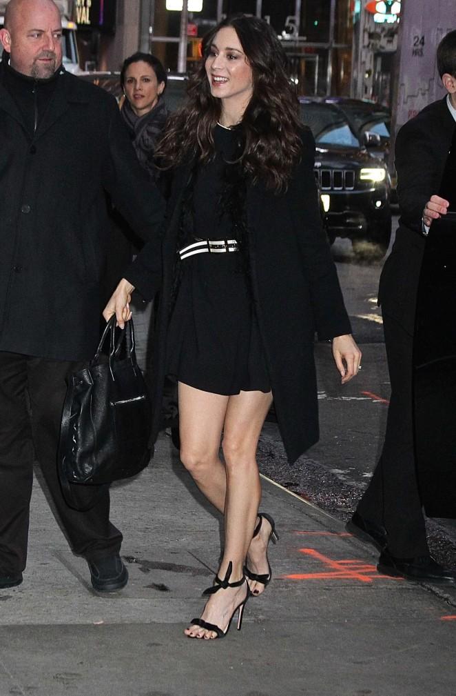 Troian Bellisario Arrives at 'Good Morning America' in New York
