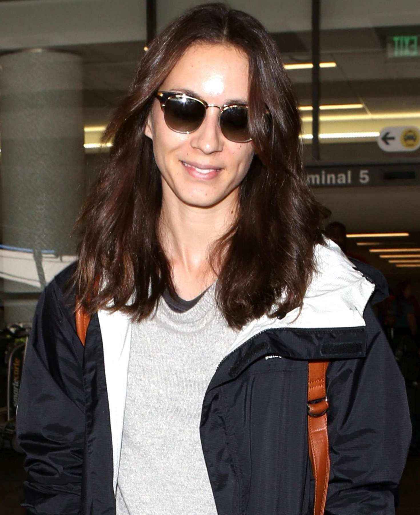 photo Troian bellisario travel outfit at lax airport