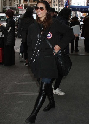 Troian Bellisario Leaving her hotel in NYC