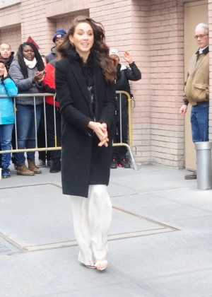 Troian Bellisario Leaving 'The View' in New York