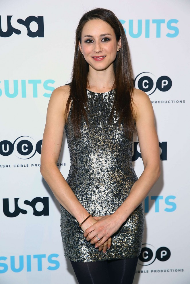 Troian Bellisario - Patrick J. Adams Exhibition Opening of SUITS Gallery in NY