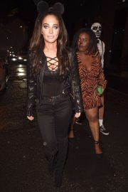 Tulisa Contostavlos - Arrives at PLT Halloween Party in Manchester