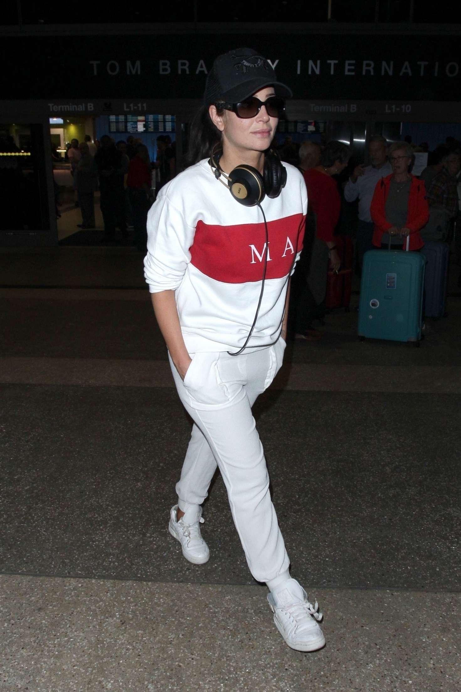 Tulisa Contostavlos 2018 : Tulisa Contostavlos: Arriving at LAX Airport -06
