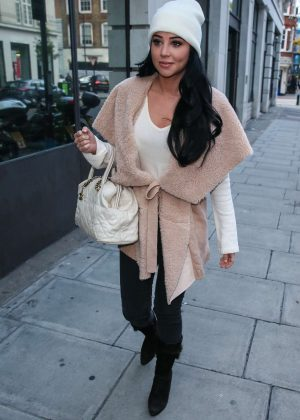 Tulisa Contostavlos at BBC Radio 1 in London