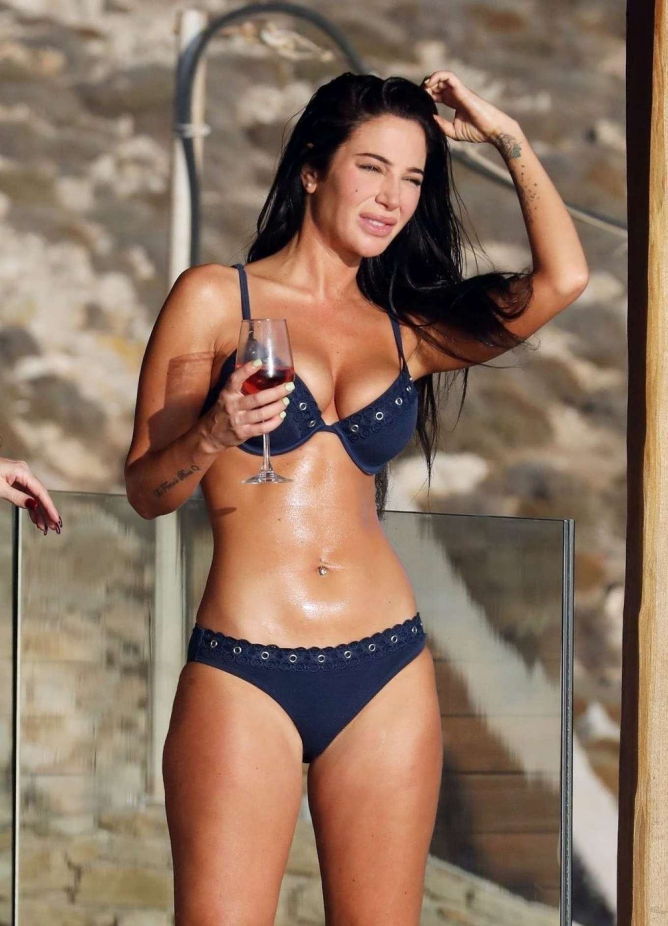 Tulisa Contostavlos - Enjoying holiday in Greece