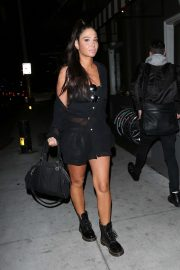 Tulisa Contostavlos in Black Outfit - Out in Los Angeles