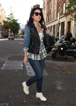 Tulisa Contostavlos in Jeans Arrives at BBC Radio 1 in London