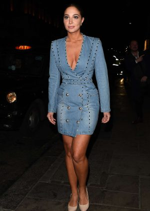 Tulisa Contostavlos in Mini Dress - Night out at Nobu in Mayfair