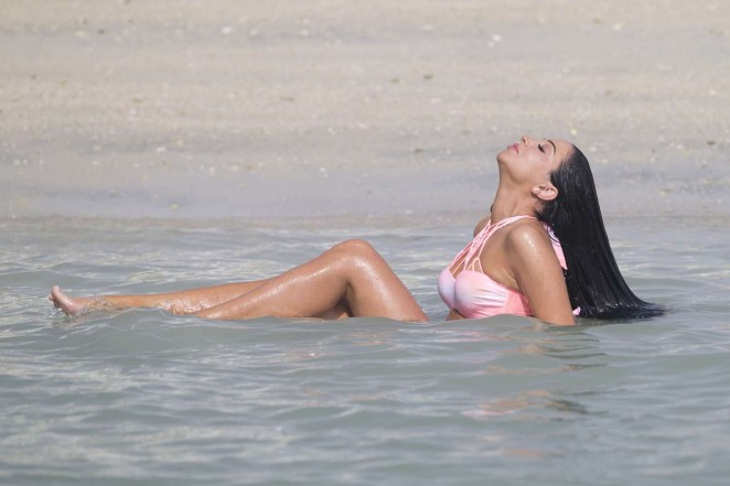Tulisa Contostavlos in Pink Bikini 2016 -13