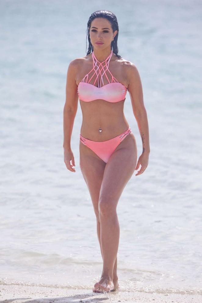 Tulisa Contostavlos in Pink Bikini 2016 -25