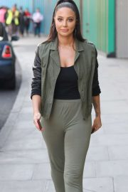 Tulisa Contostavlos - Leaving MTV Studios in London