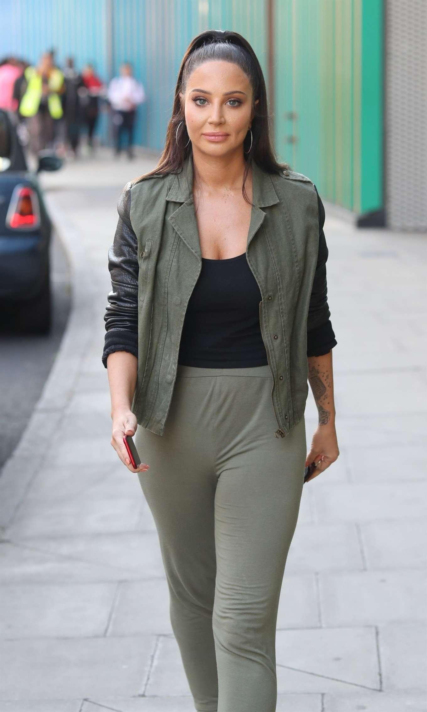Tulisa Contostavlos - Leaving MTV Studios in London