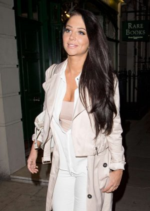 Tulisa Contostavlos Leaving The Arts Club in Mayfair