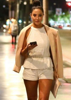 Tulisa Contostavlos - Night Out in Hollywood