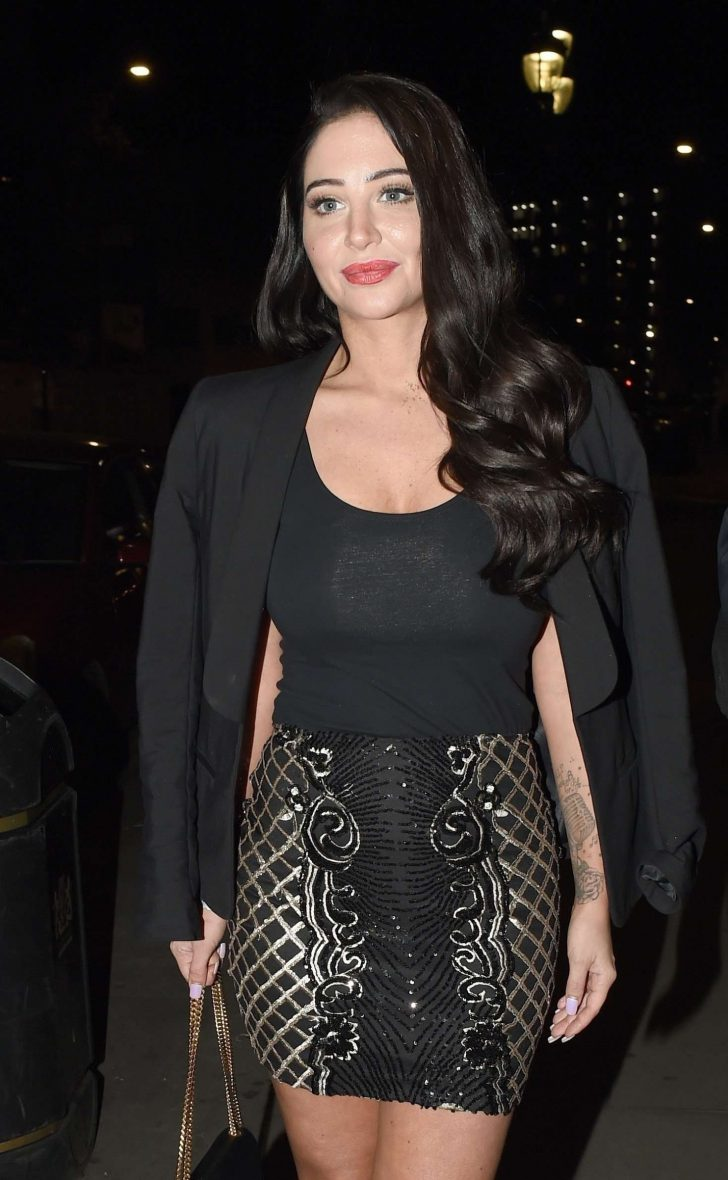 Tulisa Contostavlos - Outside the National Film Awards in London