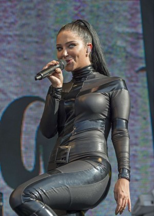 Tulisa Contostavlos in Catsuit at Brighton Pride 2015 in Brighton