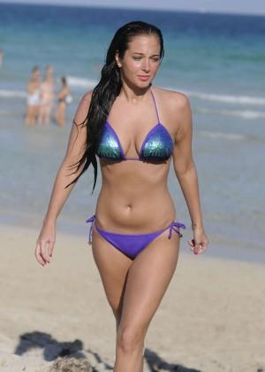 Tulisa Contostavlos in Bikini on Miami Beach