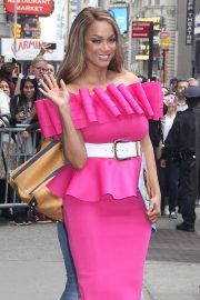 Tyra Banks at 'Good Morning America' in NYC