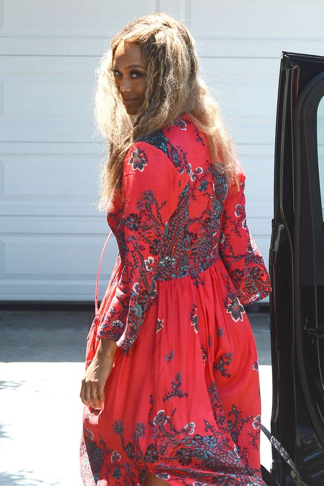 Tyra Banks - Attends InStyle's 'Day of Indulgence' Party in Brentwood
