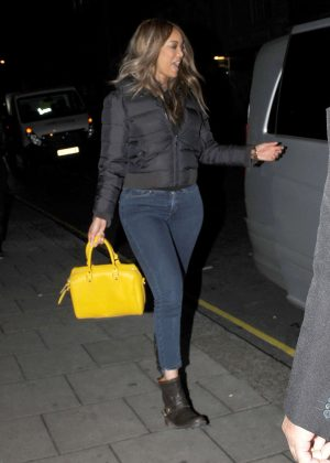 Tyra Banks in Jeans out in London