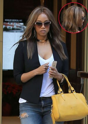 Tyra Banks - Leaves a doctors office in Beverly Hills