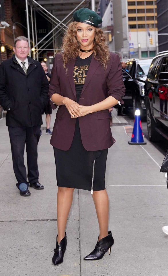 Tyra Banks - out and about in New York City