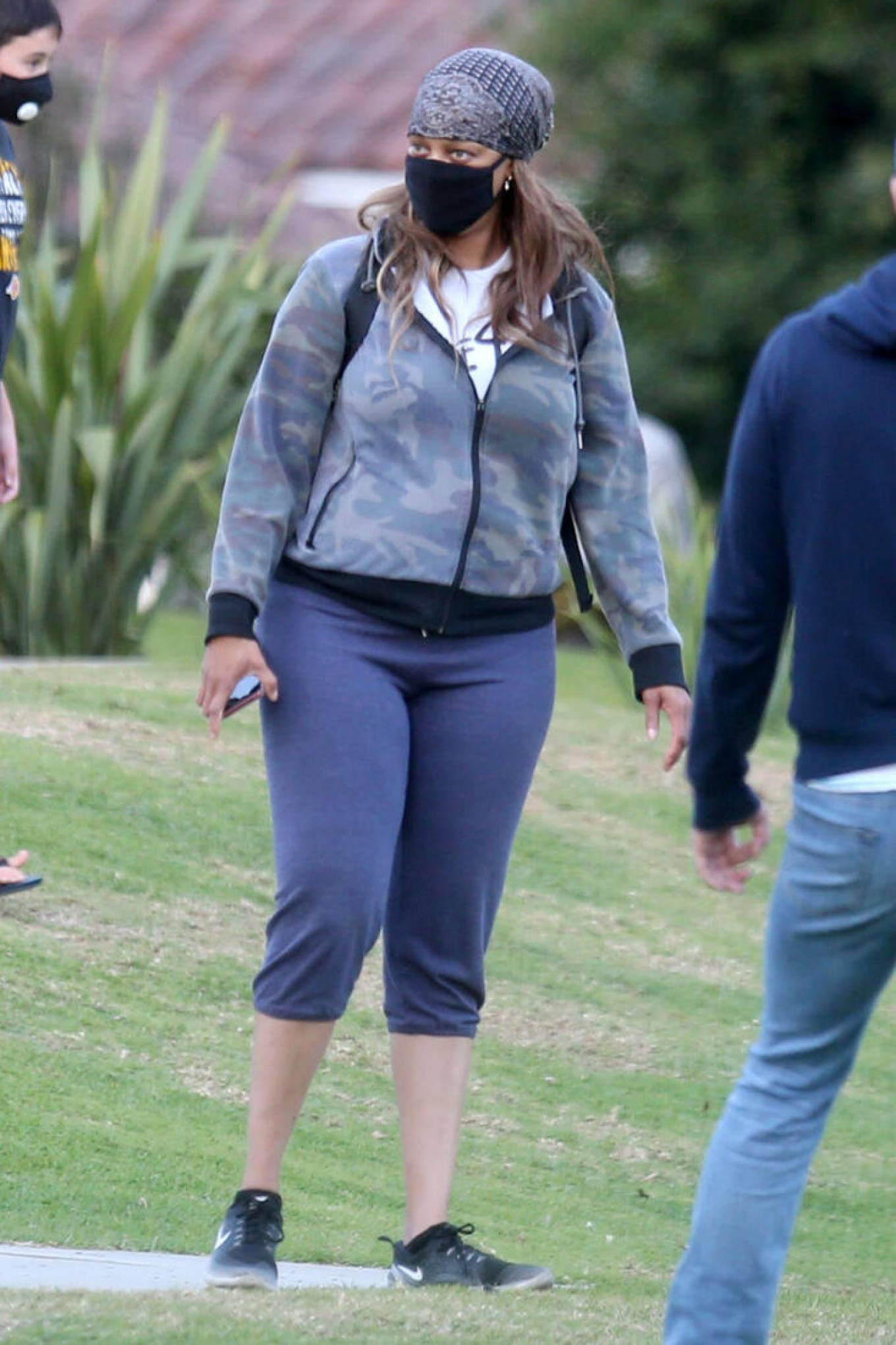 Tyra Banks - Pictured in park in Los Angeles