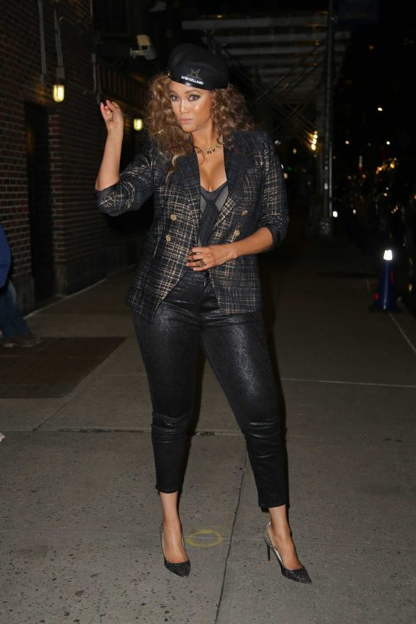 Tyra Banks - Seen after her appearance on The Late Show With Stephen Colbert in NYC