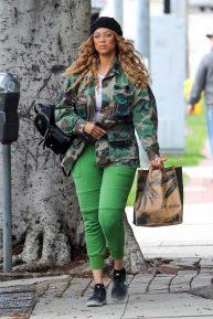 Tyra Banks wears Custom Camo Military Jacket