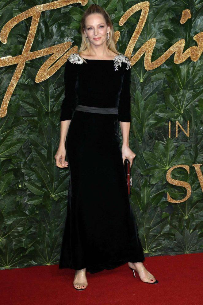 Uma Thurman – 2018 British Fashion Awards in London