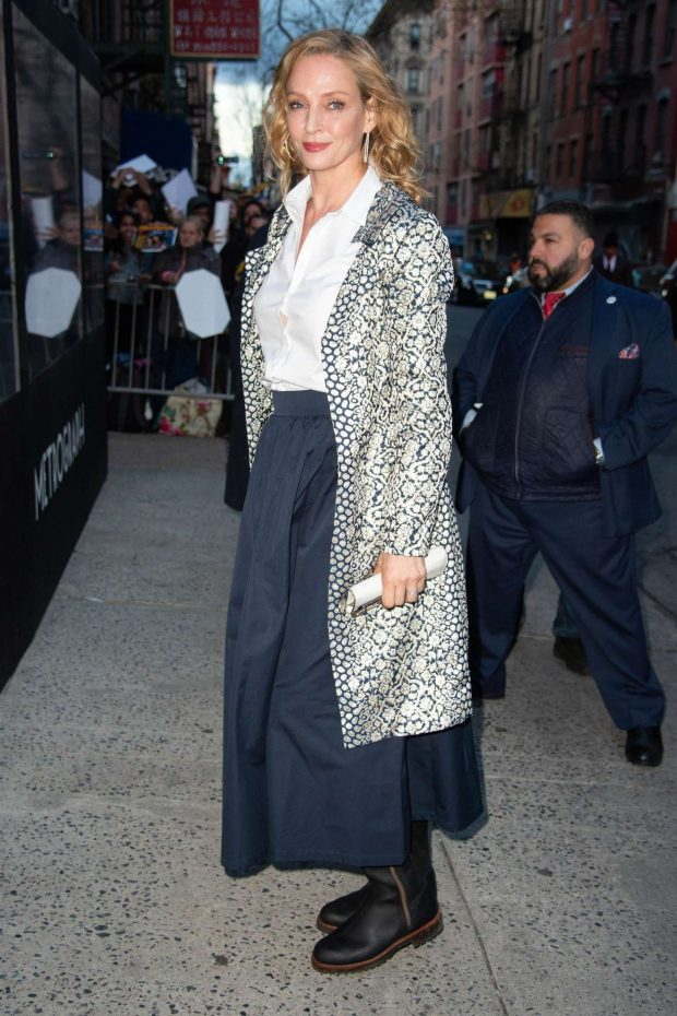 Uma Thurman: Arrives at the Chambers Premiere -01