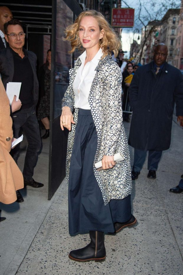 Uma Thurman: Arrives at the Chambers Premiere -02
