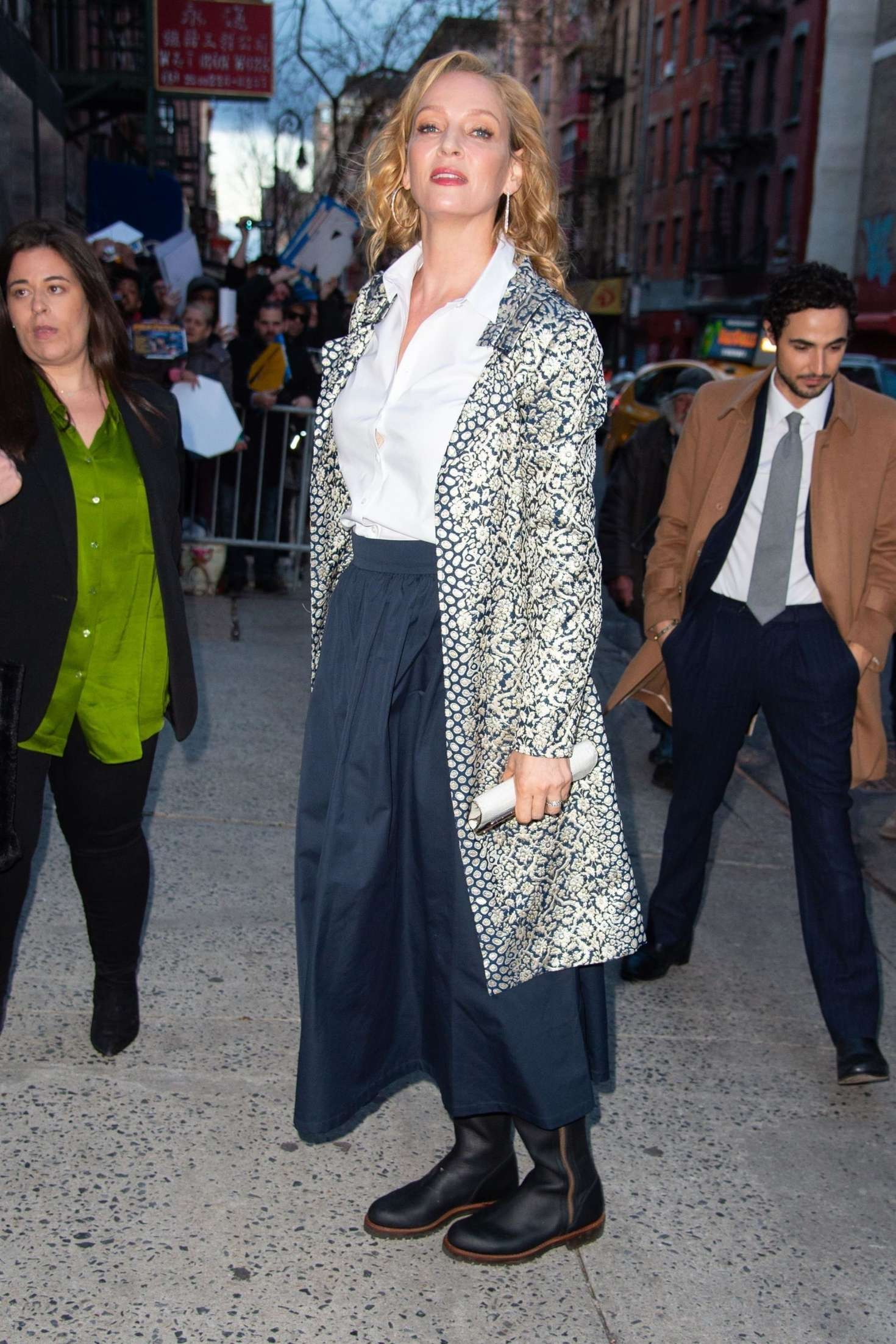 Uma Thurman 2019 : Uma Thurman: Arrives at the Chambers Premiere -03