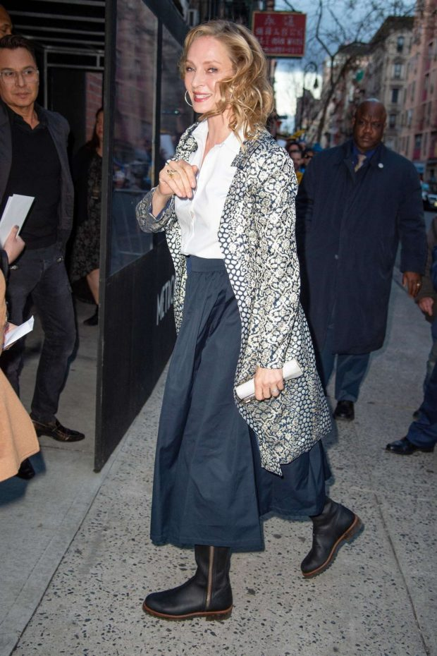 Uma Thurman: Arrives at the Chambers Premiere -06