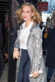 Uma Thurman - Arrives at the 'Chambers' Premiere in New York