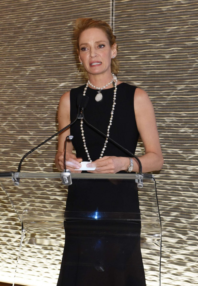 Uma Thurman at the Forevermark Dinner in NYC