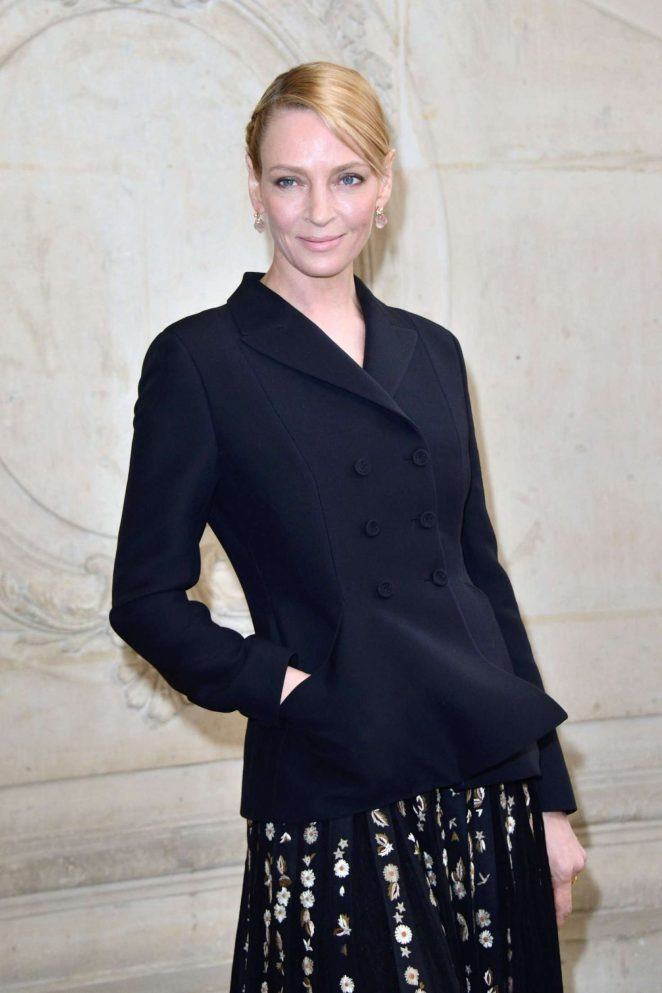 Uma Thurman - Christian Dior Show at 2017 PFW in Paris