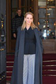 Uma Thurman - Leaves the Ritz hotel in Paris