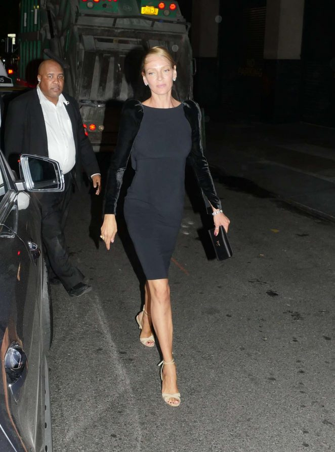 Uma Thurman - Leaves the Tom Ford Spring Summer Show in New York