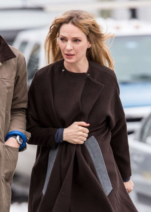 "Uma Thurman - Filming ""The Slap"" set in New York City"