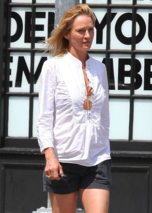 Uma Thurman - Out in New York