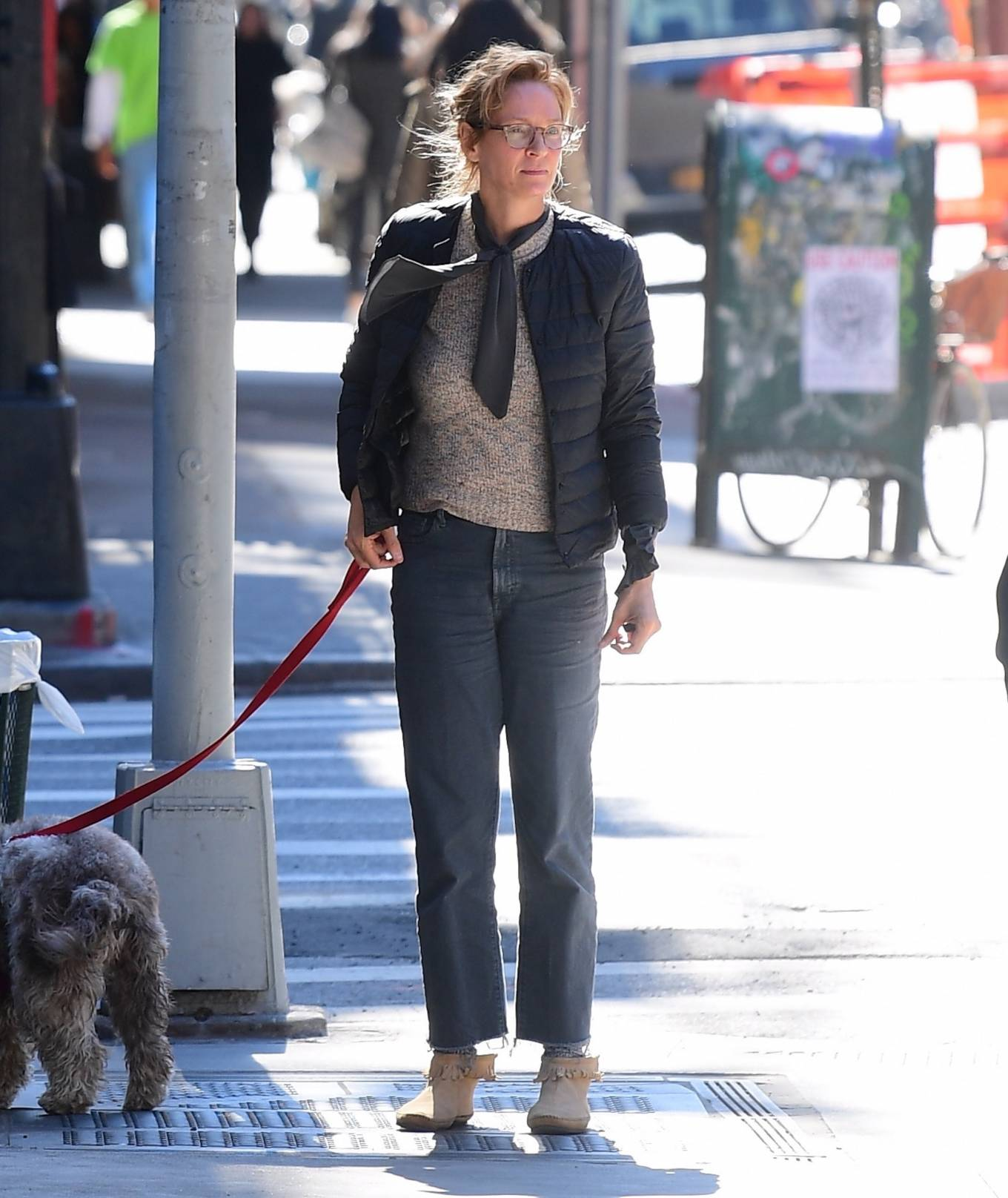 Uma Thurman 2020 : Uma Thurman – Was seen on the street of New York-07