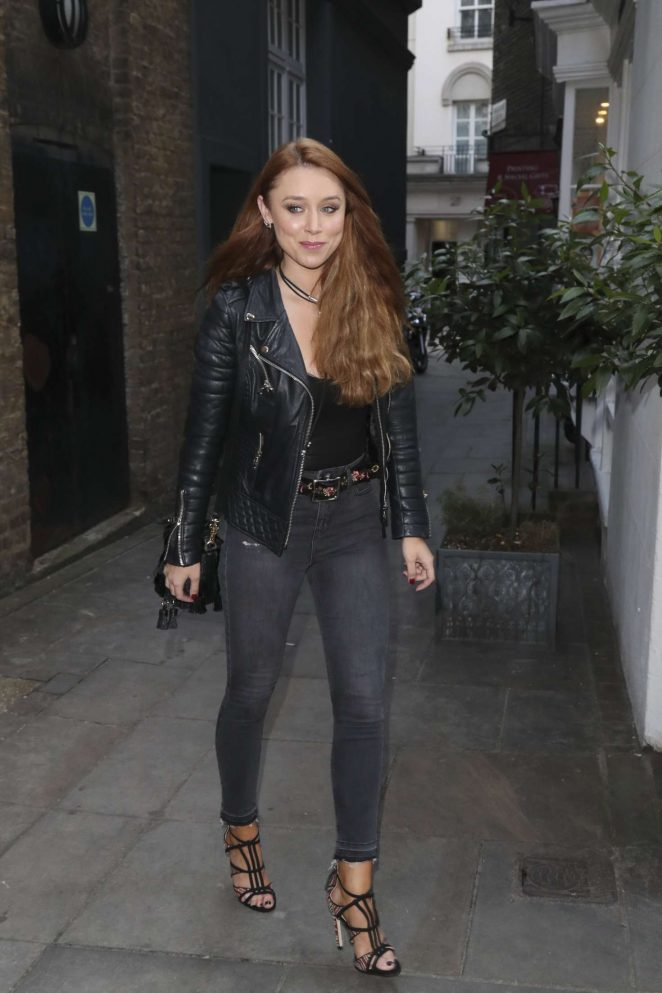Una Healy in Black Jeans out in London