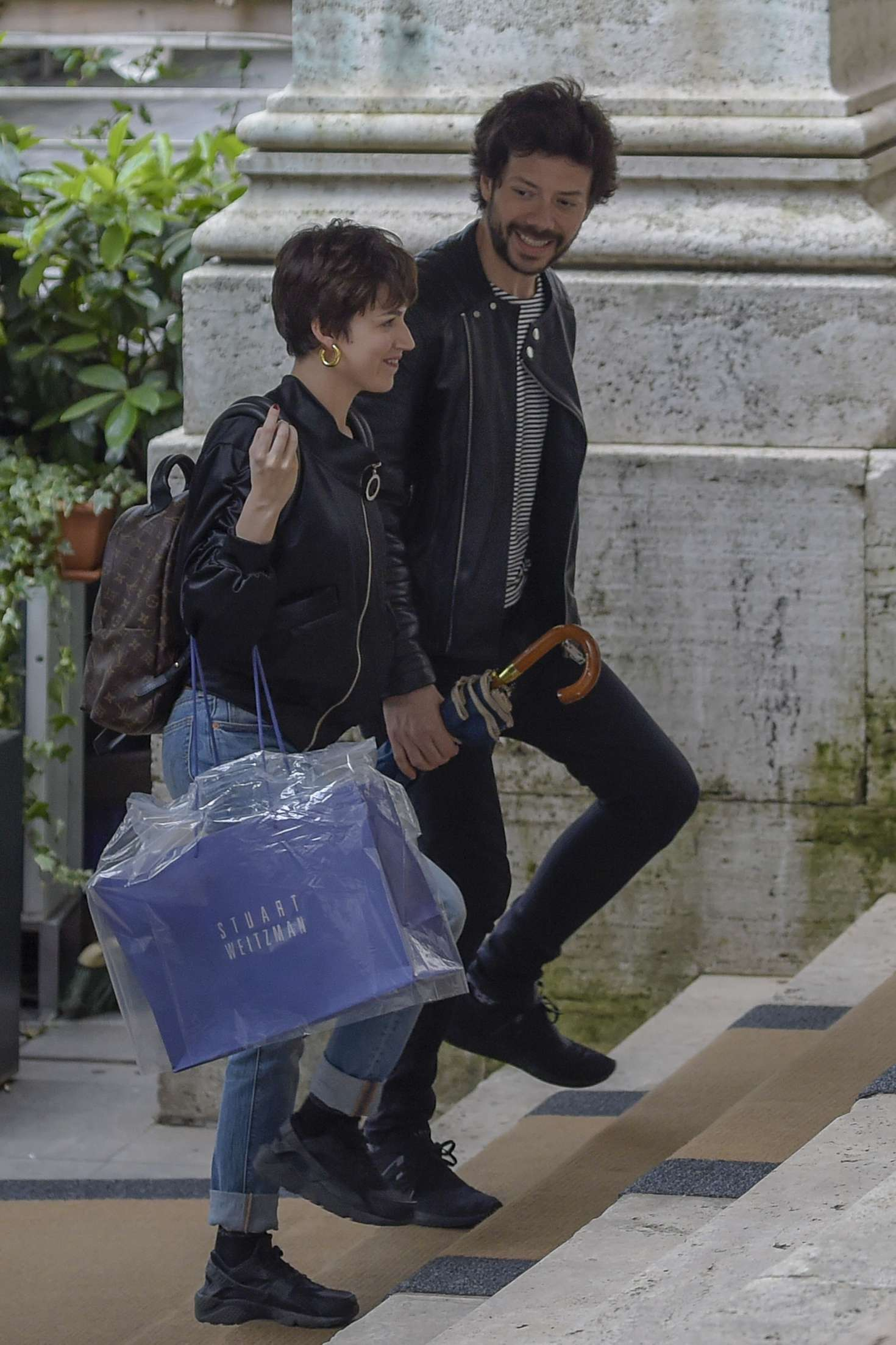 Ursula Corbero and Alvaro Morte out in Rome