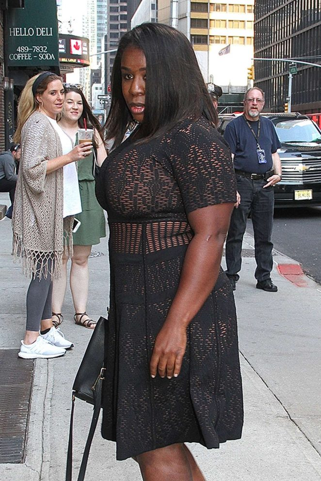 Uzo Aduba - Arrives to 'The Late Show with Stephen Colbert' in NY