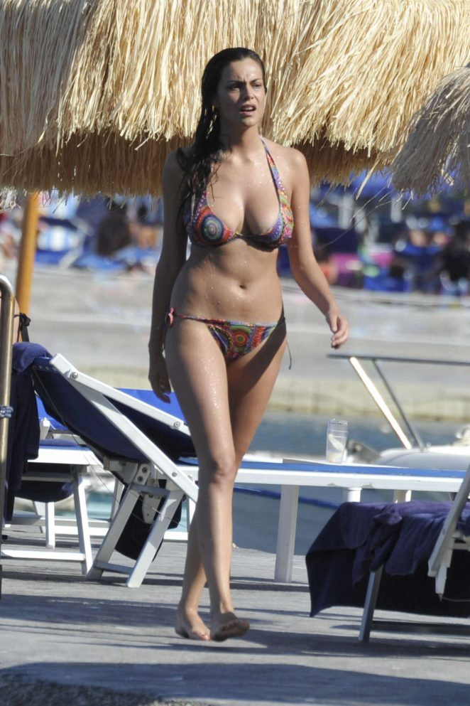 Valentina Maria Reggio in Bikini at the Beach in Ischia